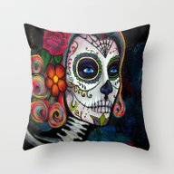 Sugar Skull Candy Throw Pillow