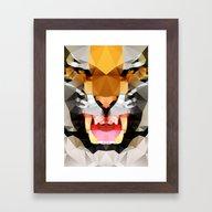 Tiger - Geo Framed Art Print