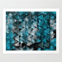 TriangleTracts Full Blee… Art Print