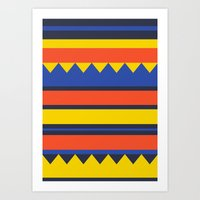 Triangles Jungle Art Print