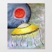 Jelly Moon Canvas Print