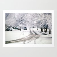 Winter On Beechwood Lane Art Print