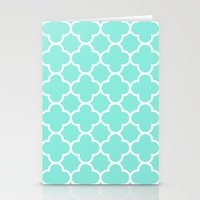 MOROCCAN {TEAL & WHITE} Stationery Cards