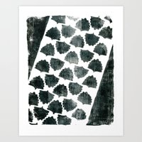 Grey Maple Print Art Print