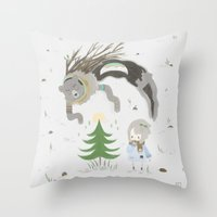 Bear spirit Throw Pillow