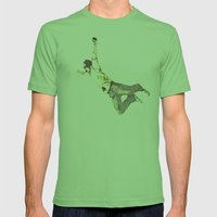 young man falling Mens Fitted Tee Grass SMALL