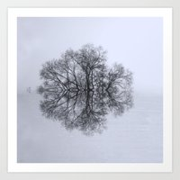 Trees of Reflection Art Print