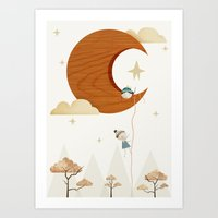 Escape To The Moon Art Print