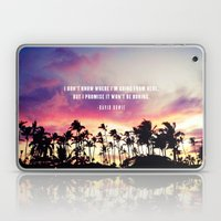 1980's sunset and quote Laptop & iPad Skin