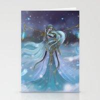 Lady Winter Stationery Cards