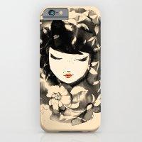 Ink Flower Girl iPhone 6 Slim Case