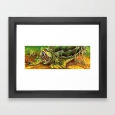 Alligator Snapping Turtle Framed Art Print