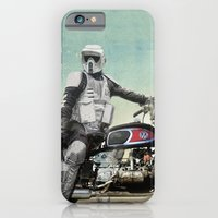 iPhone & iPod Case featuring Looking for the drones, VW Scout Trooper Motorbike by vin zzep