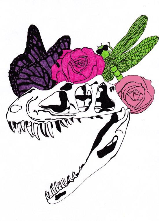 Dinosaur Skull XV Art Print