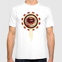 Red Noise Mens Fitted Tee White SMALL