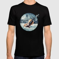 Wistful Abandonment Black SMALL Mens Fitted Tee