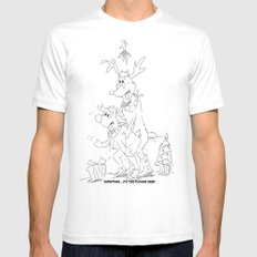 Christmas: It's Too Fucking Deer  Mens Fitted Tee White SMALL