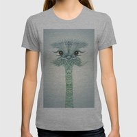 Ostrich  Womens Fitted Tee Athletic Grey SMALL