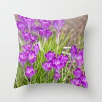 Spring crocus  Throw Pillow