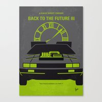 No183 My Back to the Future minimal movie poster-part III Canvas Print