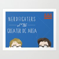Nerdfighters Of The Gene… Art Print