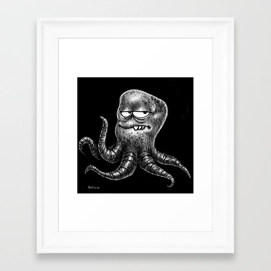 Monster sketch XI Framed Art Print