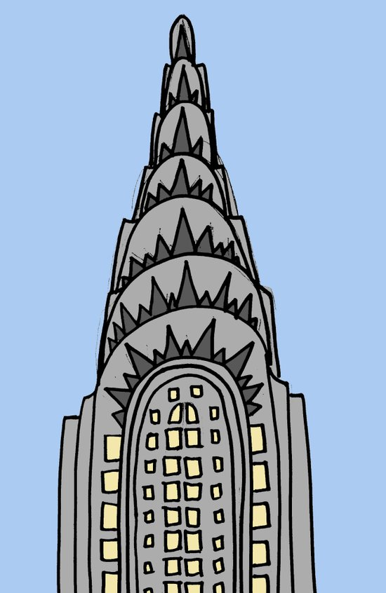 The Chrysler Building Would Look All Wrong in Nappa Canvas Print