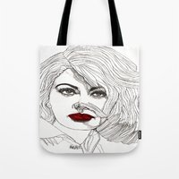Sophia With Red Lips Tote Bag