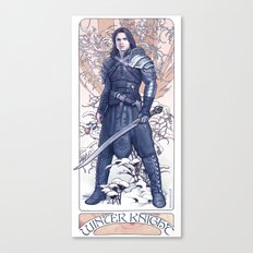The Winter Knight Canvas Print