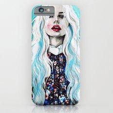 Fleur bleu Slim Case iPhone 6s