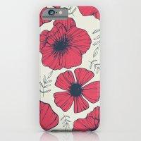 Raspberry Flowers iPhone 6 Slim Case