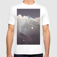 Cosmic Cat Mens Fitted Tee White SMALL