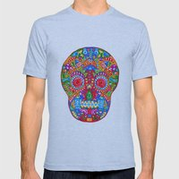 A really colourful skull Mens Fitted Tee Athletic Blue SMALL