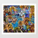 Gold, Glitter, Gems and Sparkles Art Print