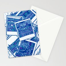 Blue Print  Stationery Cards