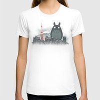 My Angry Neighbor Womens Fitted Tee White SMALL