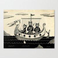 The Harpooners  Canvas Print