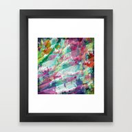 Bright Color Splash Abst… Framed Art Print