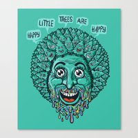 Happy Little Trees Are Happy  Canvas Print