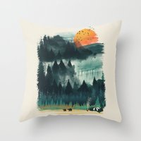 Wilderness Camp Throw Pillow