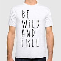 Wild and Free Mens Fitted Tee Ash Grey SMALL