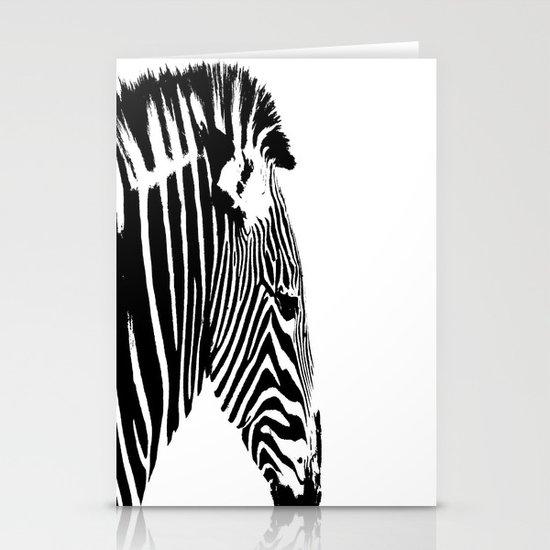 Zebra Portrait Stationery Card