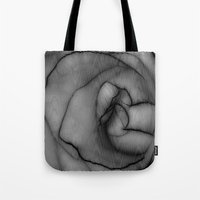 Charcoal Rose Tote Bag
