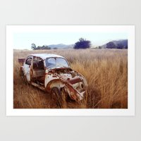 Rusty, broken and forgotten Art Print