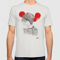 MASK + LANTERNS Mens Fitted Tee Silver SMALL