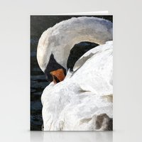 The Peaceful Swan Art Stationery Cards