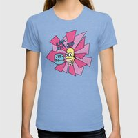 Mr. Sparkle Womens Fitted Tee Tri-Blue SMALL