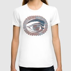 giucas casella Womens Fitted Tee White SMALL