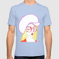 Hip Girl Mens Fitted Tee Tri-Blue SMALL