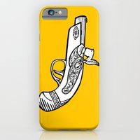 iPhone & iPod Case featuring One shot Derringer, one shot gettin ya by tCAP